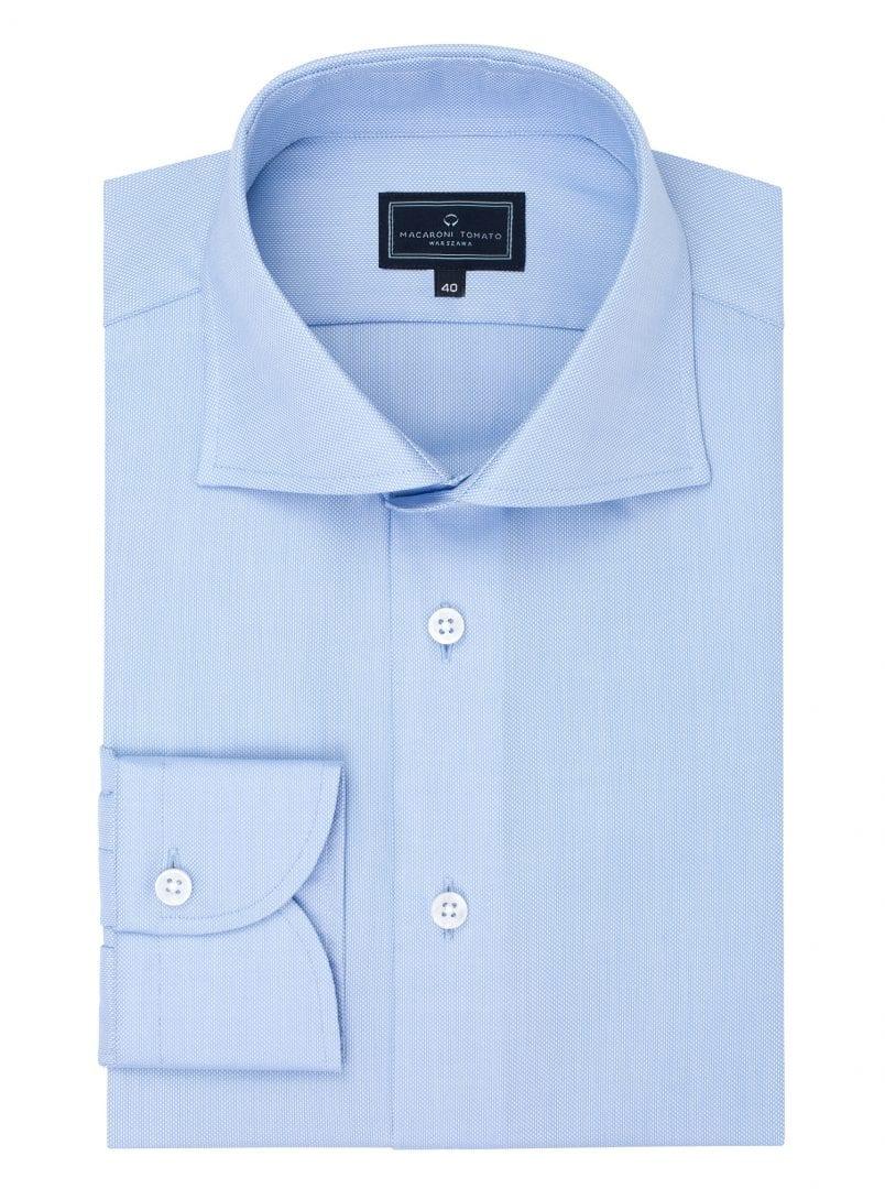 Błękitna koszula z Royal Oxfordu - Macaroni Tomato